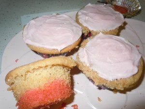 Shirley Temple muffins - if left unfrosted!